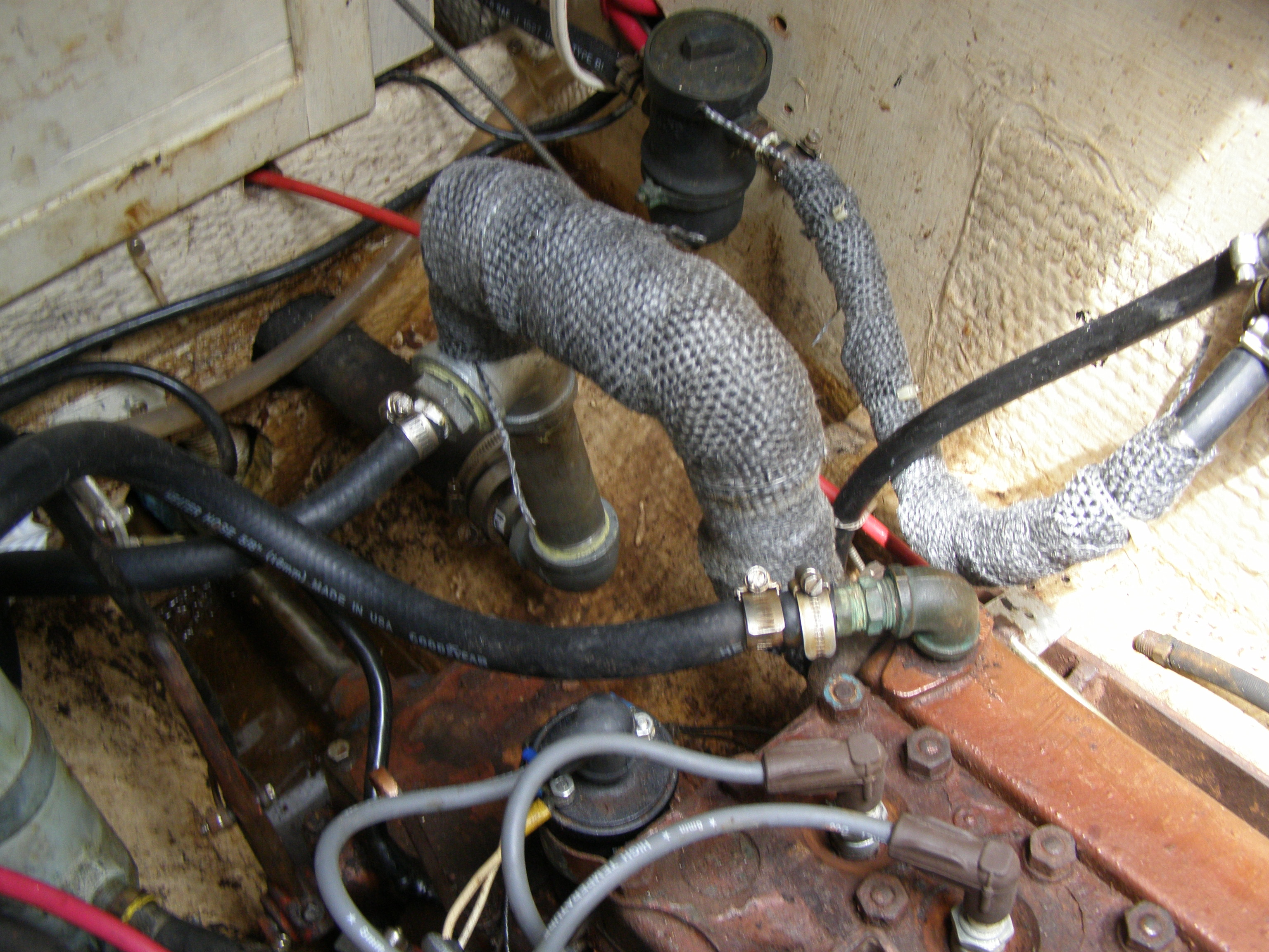 Rotted Exhaust Pipe Moyer Marine Atomic 4 Community Home Of The Starter Wire Diagram Attached Images